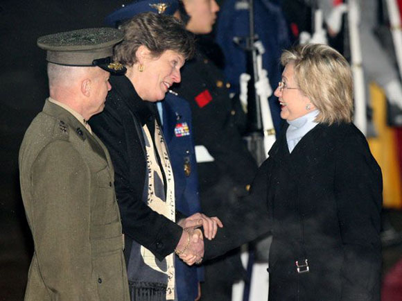 Secretary Hilary Clinton arrived Seoul