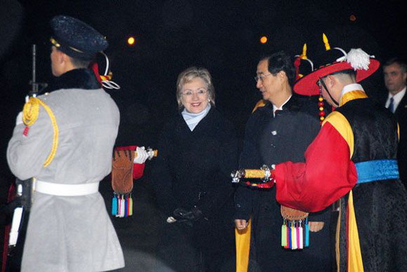 Secretary Hilary Clinton arrived Seoul, Feb 19, 2009