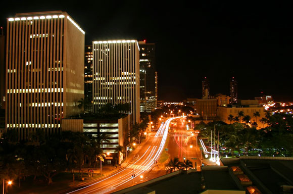 Waikiki/Honolulu nightview
