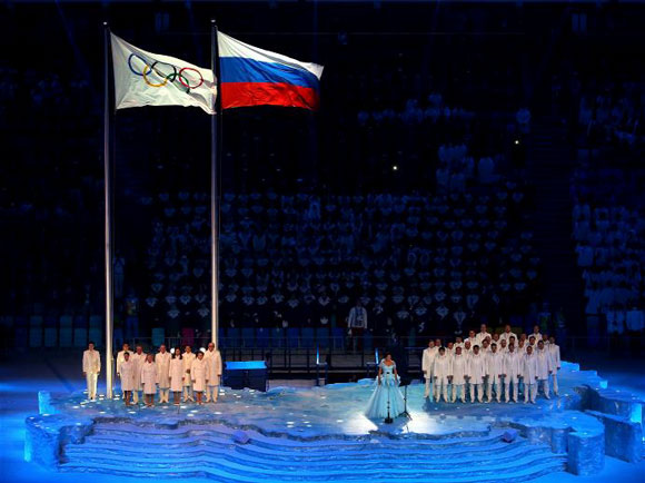 Olympic - Russian Flags - 580x434