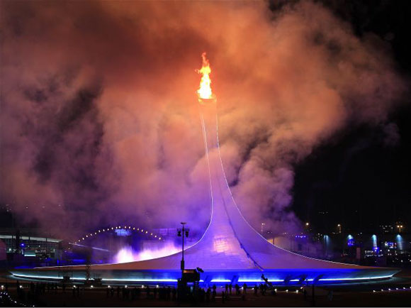 索契2014冬奧會圣火 Sochi 2014 Winter Olympic Flame